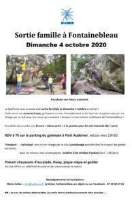 Sortie famille à Fontainebleau - ANNULEE
